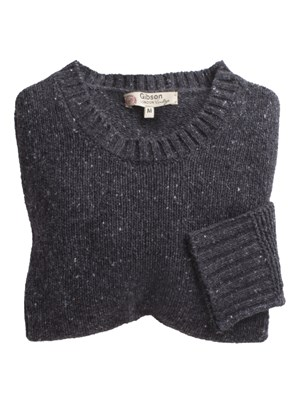Chunky Crew Neck Donegal Sweater