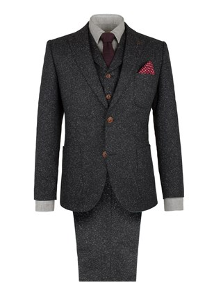 Charcoal Donegal Fleck Suit