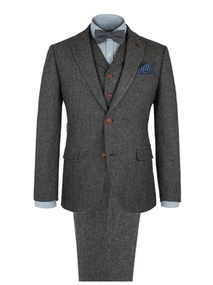 Grey Herringbone Fleck Suit