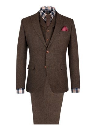 Copper Herringbone Fleck Suit