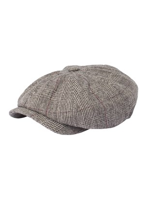 Taupe With Burgundy Check Hat