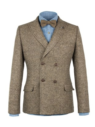 Taupe Double Breasted Jacket