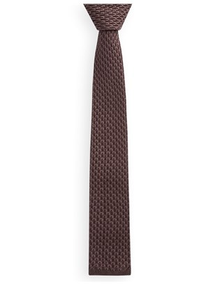 Chocolate Knitted Tie