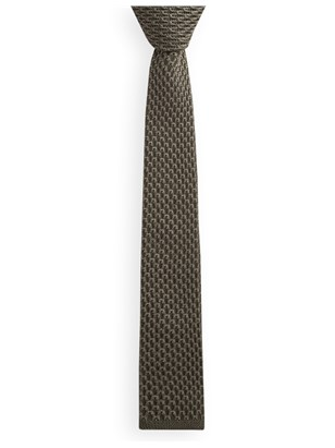 Olive Knitted Tie