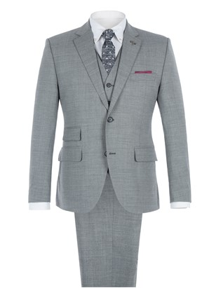 Grey Melange Two Piece Suit