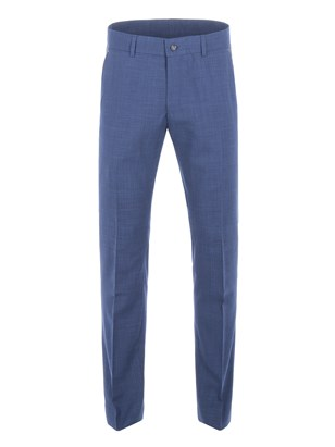 Cobalt Blue Wool Blend Trousers