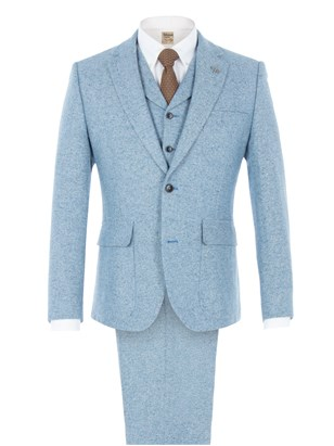 Blue Contrast Donegal Suit