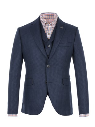 Blue Basket Weave Jacket