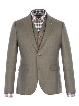 Green Windowpane Check Jacket