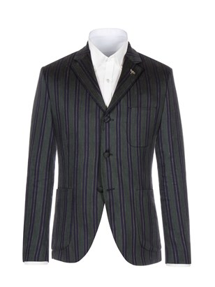 Green And Navy Stripe Jacket
