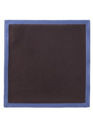 Brown With Blue Trim Hankie