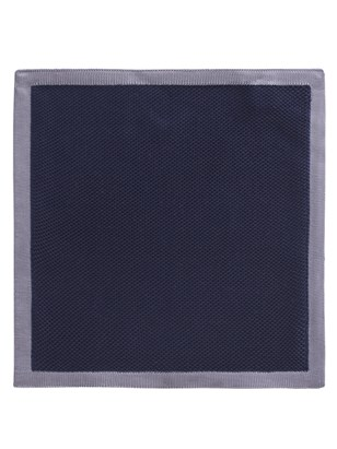 Navy With Grey Trim Hankie