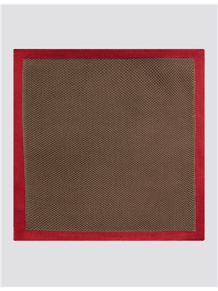 Brown With Red Trim Hankie