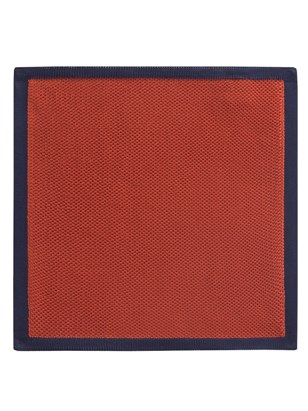 Orange With Navy Trim Hankie
