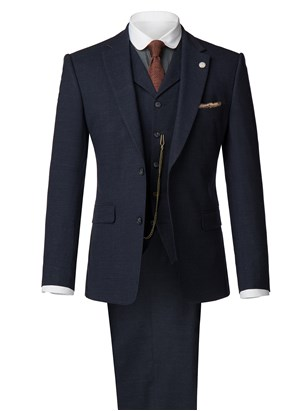 Navy Speckle Suit