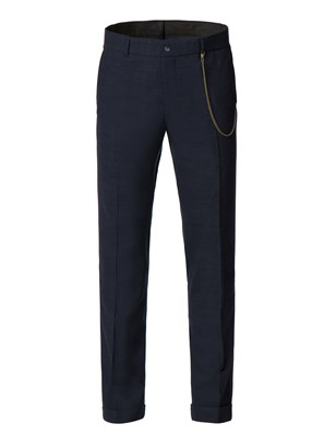 Navy speckle trousers