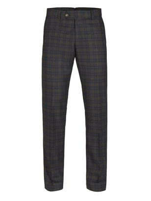 Green and Red soft check trousers