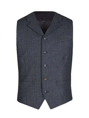 Navy Prince of Wales Check with soft red over check Jacket
