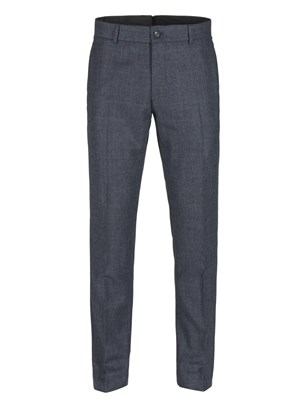 Navy Prince of Wales Check with Soft Red Over Check Trousers