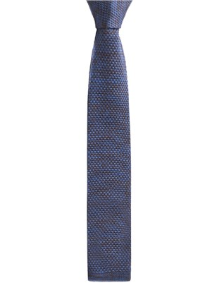 Blue and Brown melange knitted tie
