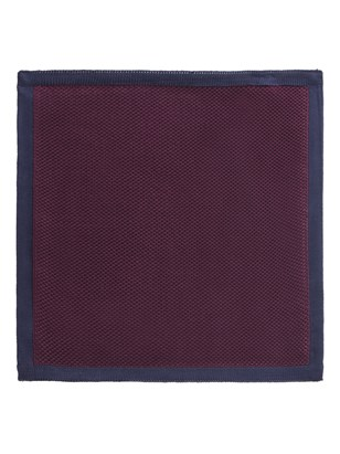 Burgundy with Navy Trim Knitted Hankie