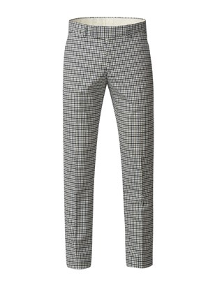 Grey Gingham Check Trousers
