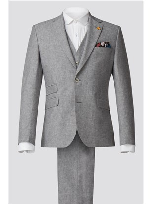 Gibson Grey Linen Blend Jacket Grey