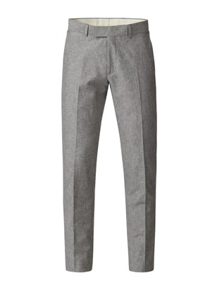 Gibson Grey Linen Blend Trousers Grey