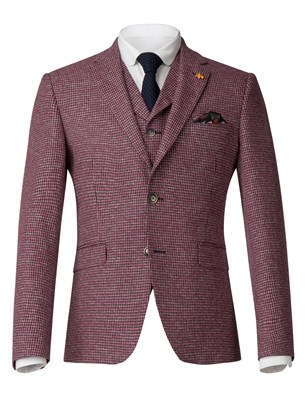 Red Dogtooth Jacket