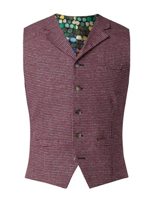 Red Dogtooth Waistcoat