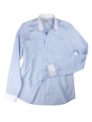 Pale Blue Penny Round Shirt