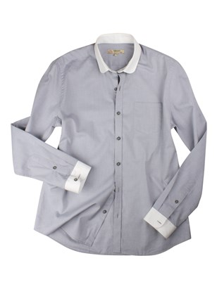 Grey Penny Round Shirt