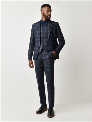 Teal Tartan Check Jacket