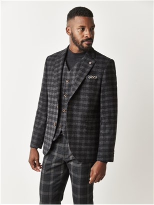 Gibson Charcoal Check Tailored Fit Jacket Charcoal