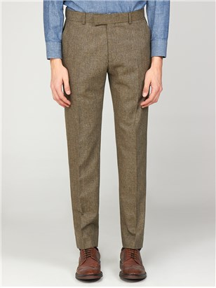 Bakerloo Special Mens Checked Slim Fit Radisson Trousers Fawn