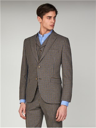 Jackets Gibson The Regent St Mens Towergate Gingham Suit Jacket Brown