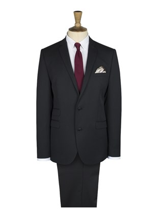 Black Twill Slim Fit Suit