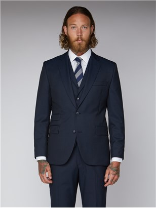 Navy Twill Slim Fit Suit