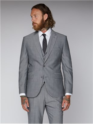 Silver Grey Slim Fit Suit Jacket