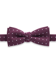 Burgundy Spot Bow Tie- currently unavailable