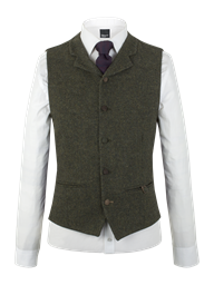 Green Donegal Waistcoat- currently unavailable