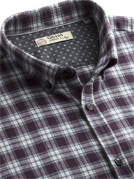 Berry Check Flannel Shirt- currently unavailable