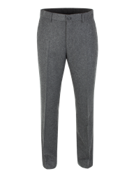Charcoal Herringbone Plain Fronted Trouser- currently unavailable