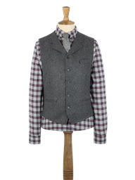 Charcoal Herringbone Vest- currently unavailable