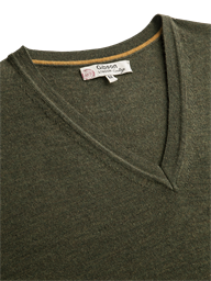 MERINO WOOL V NECK SWEATER- currently unavailable
