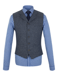 Blue Donegal Waistcoat