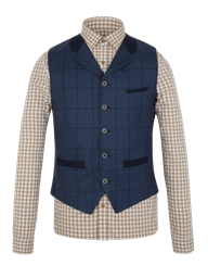 Navy Check Waistcoat- currently unavailable