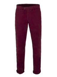 Burgundy Cotton Chinos