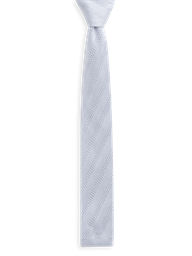 Silver Diagonal Knitted Tie- currently unavailable