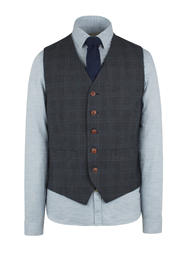 Charcoal Check Vest- currently unavailable